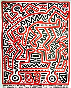 """Keith Haring at Fun Gallery 83"", 1983, Original Exhibition Poster."