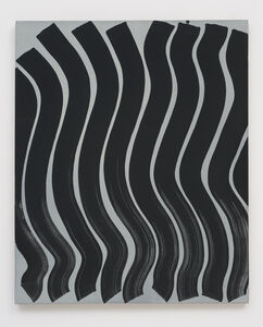 Untitled (Strokes, Black on Grey)