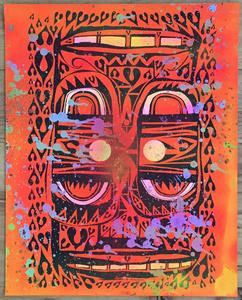 "Phil Frost ""Untitled Neon"" Orange"