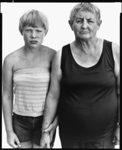 Vivian Richardson and her granddaughter, Heidi Zacher, Deadwood, South Dakota, August 6, 1982