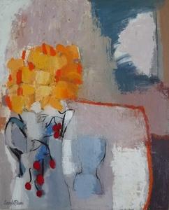 Bouquet Jaune à la Cruche aux Cerises
