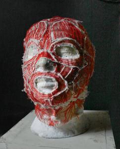 Máscara con músculos
