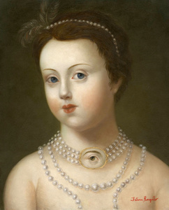 Girl with Pearls and Lover's Eye