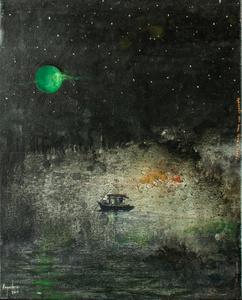 Pescando con luna verde