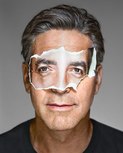 George Clooney with Mask