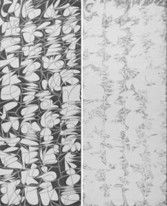 """Wang Duo """"Imitation in Wang Xizhi's Yongjia·jingyu calligraphy"""" Yang(left), Wang Duo """"Imitation in Wang Xizhi's Yongjia·jingyu calligraphy"""" Yin(right)"""