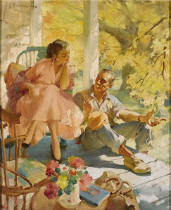 "End of the Road,   ""Ladies' Home Journal""   Golden Age of Illustration"