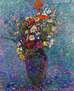 Odilon redon as a pretext - Vase of flowers 1990 N°2