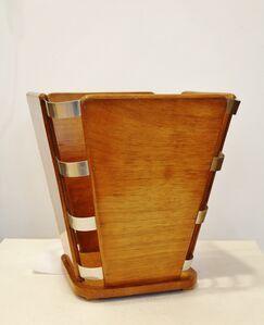Art Deco Waste Paper Basket, by Jacques-Emile Ruhlmann