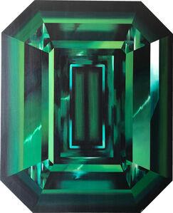 Green Emerald Cut Diamond