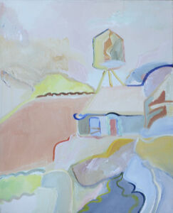 Water Tower Painting in Southwest Country Side
