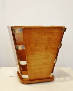 Art Deco Waste Paper Basket, by Jacques-Emile Ruhlmann