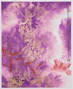 Purple Gold Lotus