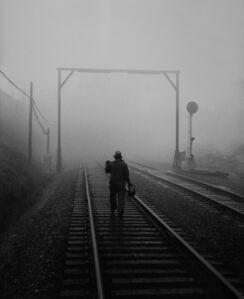 SPRR Track Walker in Bayshore Fog Commute District