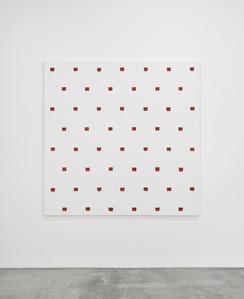 Empreintes de pinceau n°50 à intervalles réguliers de 30 cm
