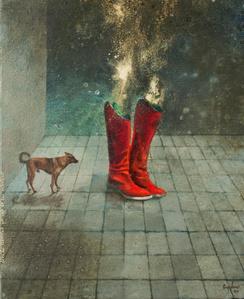 Perro con botas