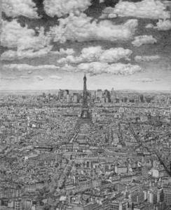 Paris from Montparnasse towards La Defence