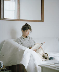 Megha reading Edith Wharton (The House of Mirth, 1905)