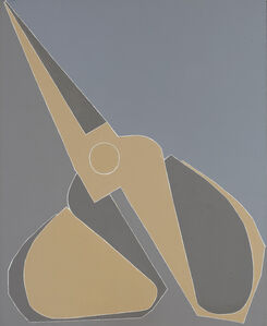 Titled yellow-grey scissors