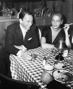 Frank Sinatra and Lauren Bacall at Musso & Frank Grill