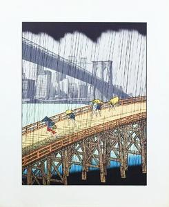 Sudden Shower (after Hiroshige)