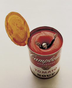 Andy Warhol in a Soup Can