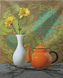 Orange Teapot