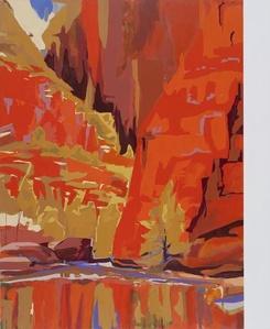 Quarta-tooma (Ormiston Gorge) 1939 (After Albert Namatjira)