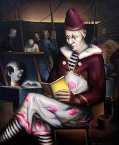 Clown Reading