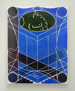 Untitled Classical Composition (Male : Ultramarine Blue & Titanium White)
