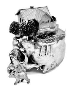 Silverplated Skull