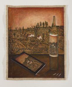 Entre botellas y frutas, campo y cielo