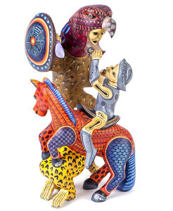 Guerrero Woodcarving Mexican Folk Art Sculpture