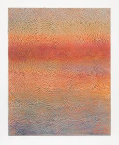Sunset (Painted Light Pink Grey Sand SF #1F, Orange Blue Pink Lavender and Yellow)
