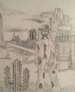 a cowboy & a bunny