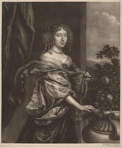 Portrait of a Lady beside a Rose Bush