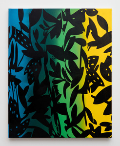 Vines (blue, yellow, black)
