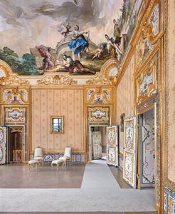 Queens bed chamber, Palazzina Di Stupinigi, Turin, Italy