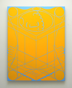 Untitled Classical Composition (Male : Cadmium Yellow Deep & King's Blue)
