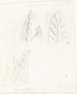 "Ornamental Study with Acanthus Motif for ""The Stones of Venice"""
