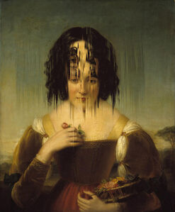 "Error in the ""The Florentine Girl (The Artist´s Daughter)"" Original Painting by Henry"