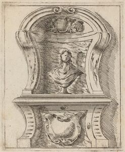 Architectural Motif with a Bust