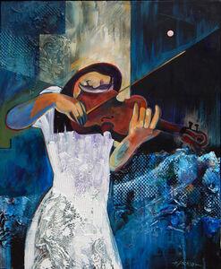 Violinist in White