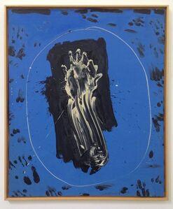 Blue Mirror White Hand