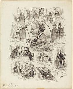 Caricatures of John Everett Millais