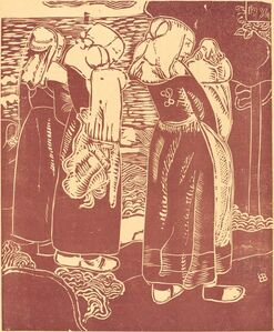 Three Breton Women with Infants