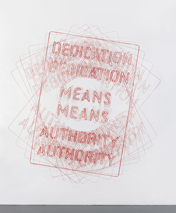 Untitled [Dedication Means Authority]