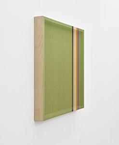 Untitled (Avocado green hovering thread)