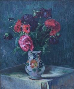 Nature morte au vase de fleurs