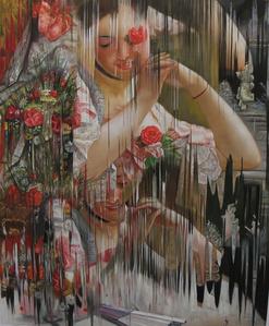 """Ejercicio de distorsión sobre """"The Bouquet"""" de Albert RAUDNITZ"""